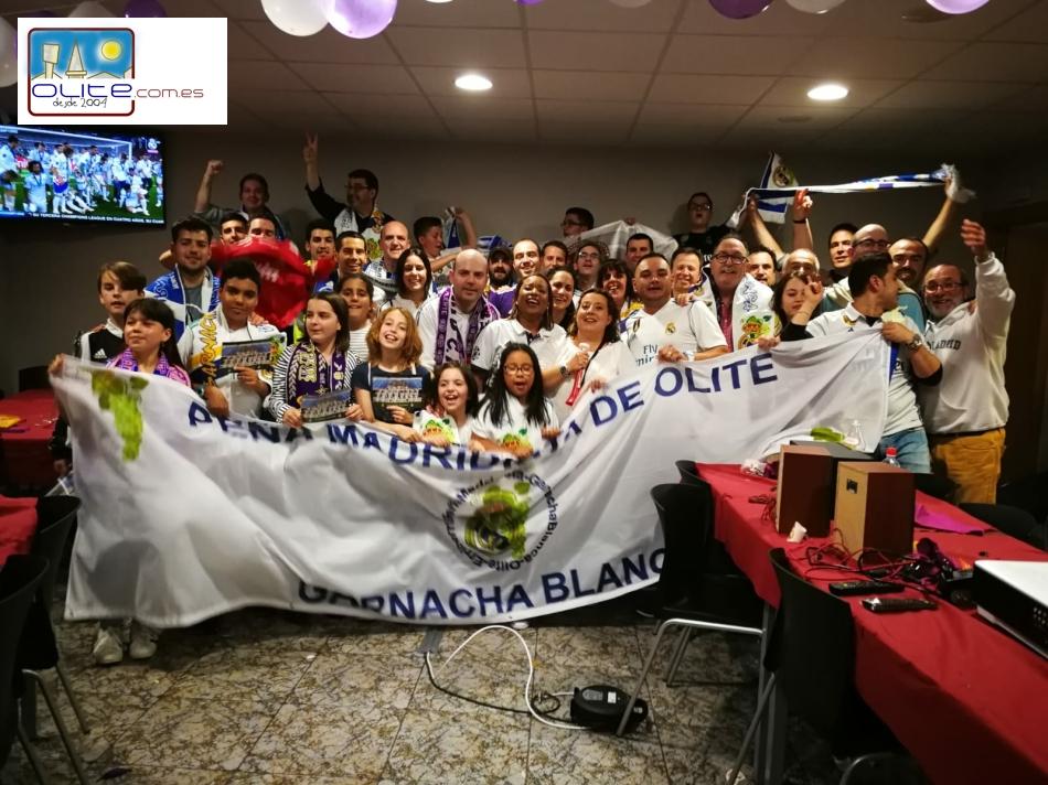 Olite.La Peña Garnacha Blanca realiza el segundo viaje al Santiago Bernabéu