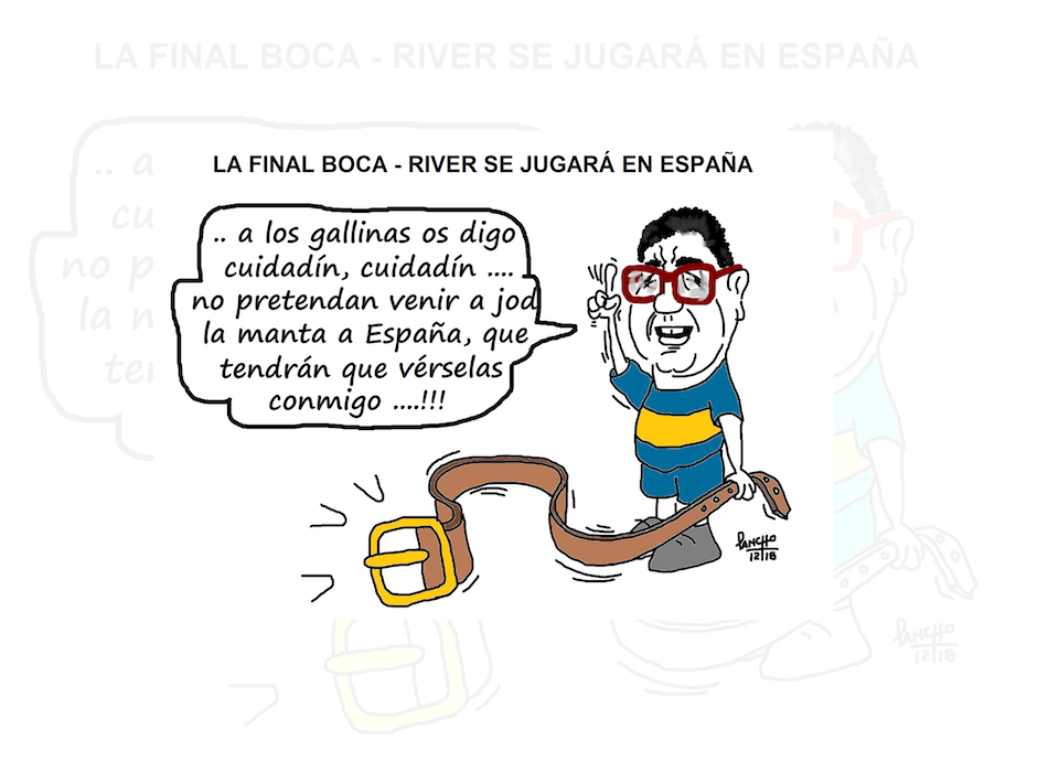 Olite.La Final Boca-River se jugará en España