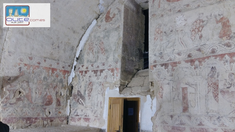 Olite.Pinturas murales restauradas en la ermita de Santa Brígida