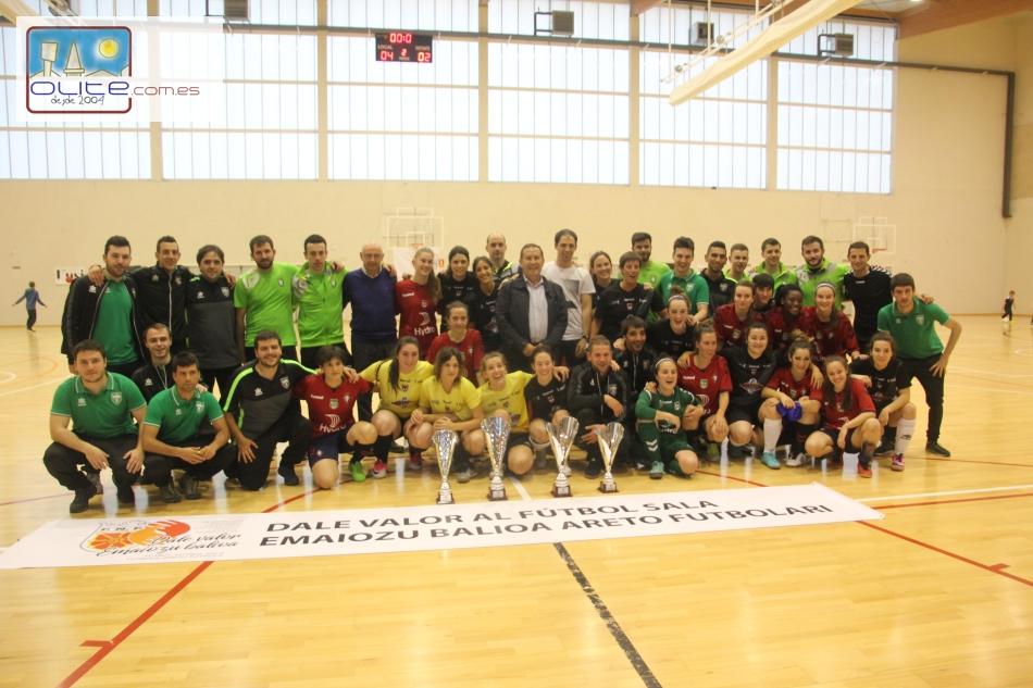 Olite.Día de Futbol Sala en Olite, donde el Futbol Sala Femenino gano la Copa Navarra