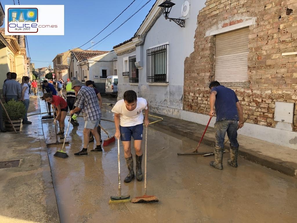Olite.El pueblo de Olite sale a la calle para ayudar a todos los vecinos