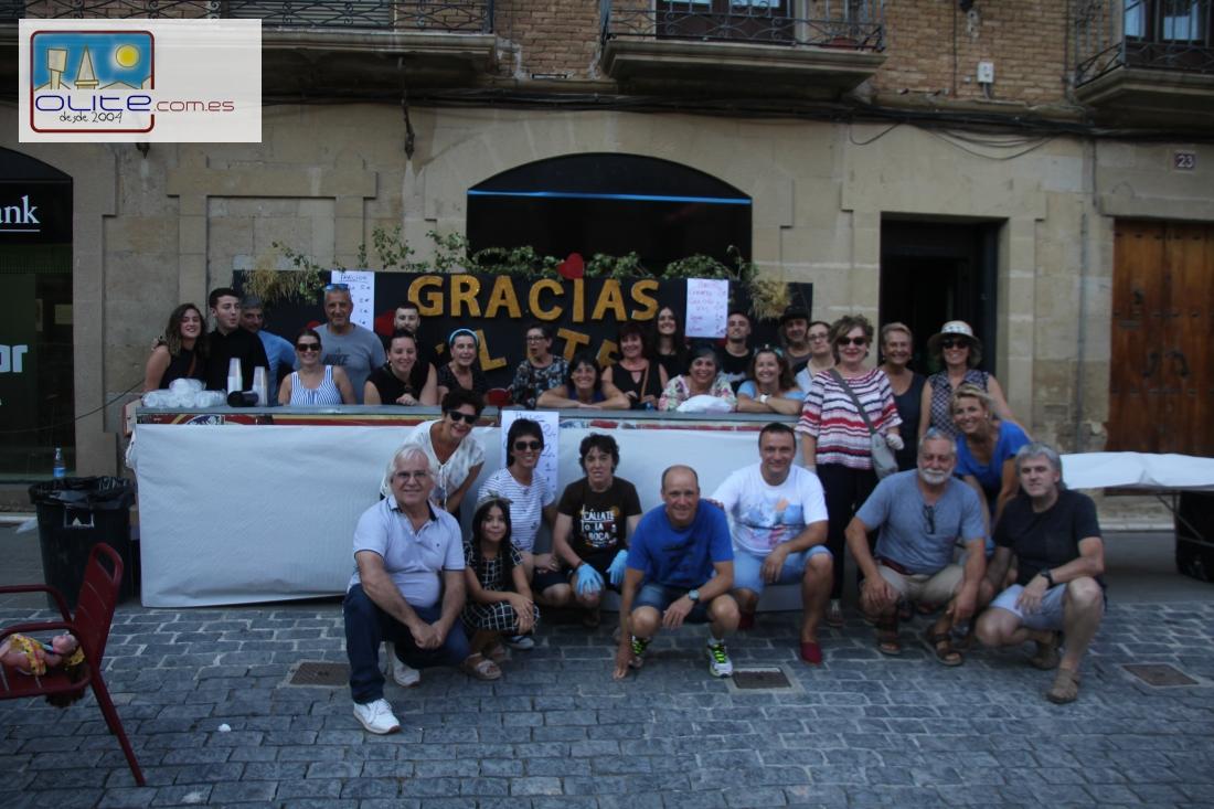 Olite.Los damnificados del  Barrio de Venecia dan las  lasa gracias por la ayuda prestada en las inundaciones