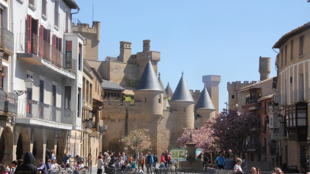 Olite.El Palacio Real de Olite uno de los recursos turísticos más visitados.