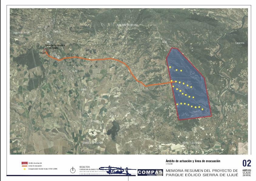 Olite.Se está elaborando un proyecto de parque eólico en la sierra de Ujué.