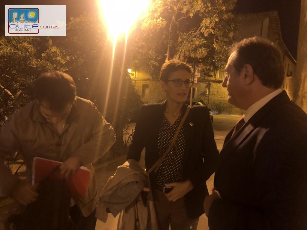 Olite.La Presidenta Maria Chivite, en la entrega de los Premios Teobaldo en el Parador de Olite.