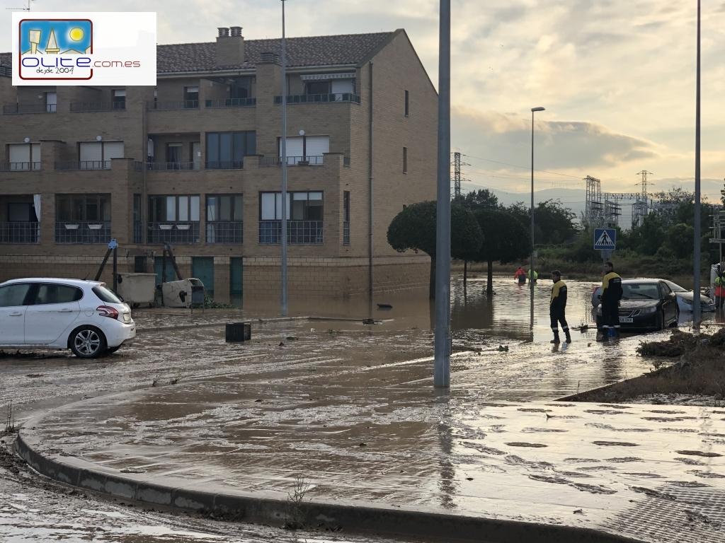 Olite.Daños por las inundaciones del 8 de julio en Olite atendidos por el Consorcio de Seguros.