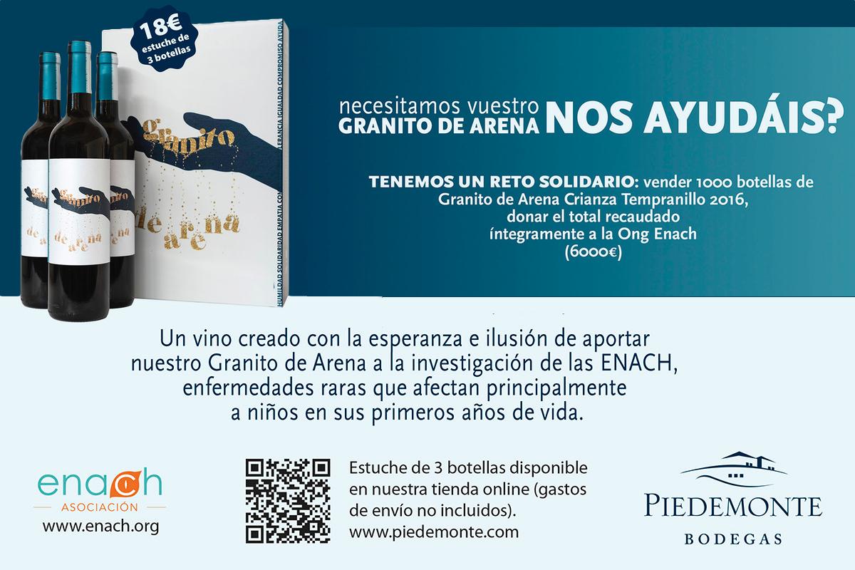 Olite.Bodegas Piedemonte lanza a la venta una nueva añada de Granito de Arena Crianza Tempranillo 2016