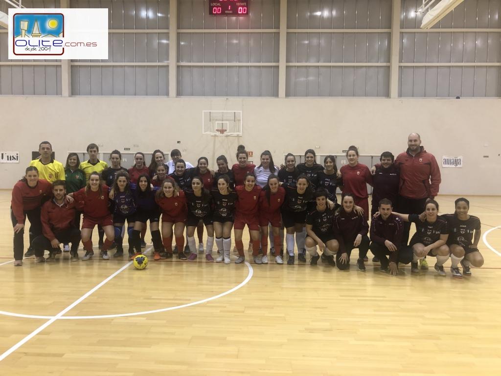 Olite.La Selección Navarra de Futbol Sala Sub-19 juega un amistoso contra el Futbol Sala Femenino Senior.