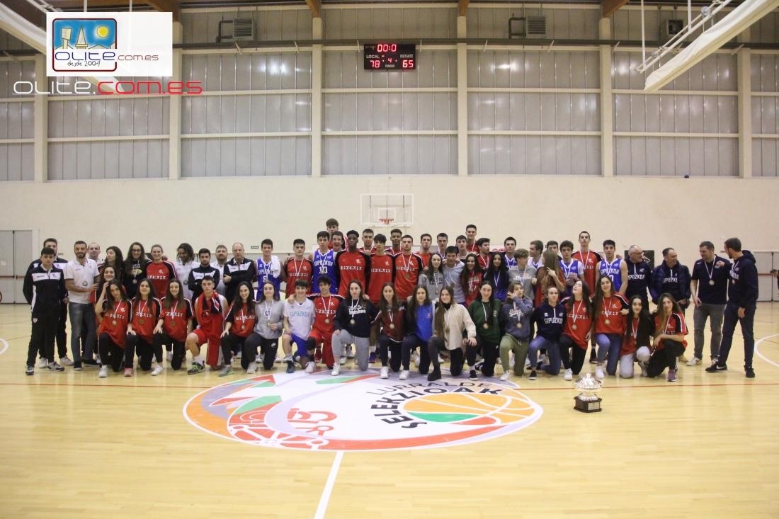 Olite.Las Selecciones de Bizkaia y Gipuzcoa ganadoras del Campeonato de Selecciones territoriales de Baloncesto
