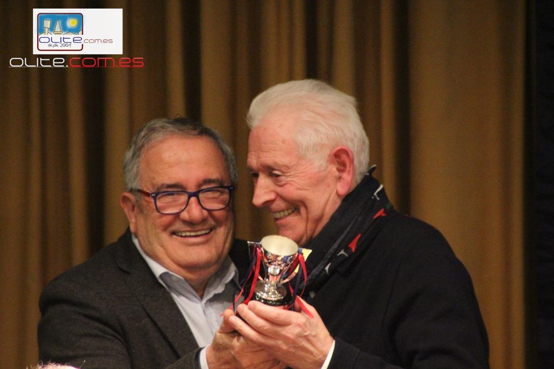 Olite.Adolfo P. Marañón homenajeado por la Peña Osasunista de Olite