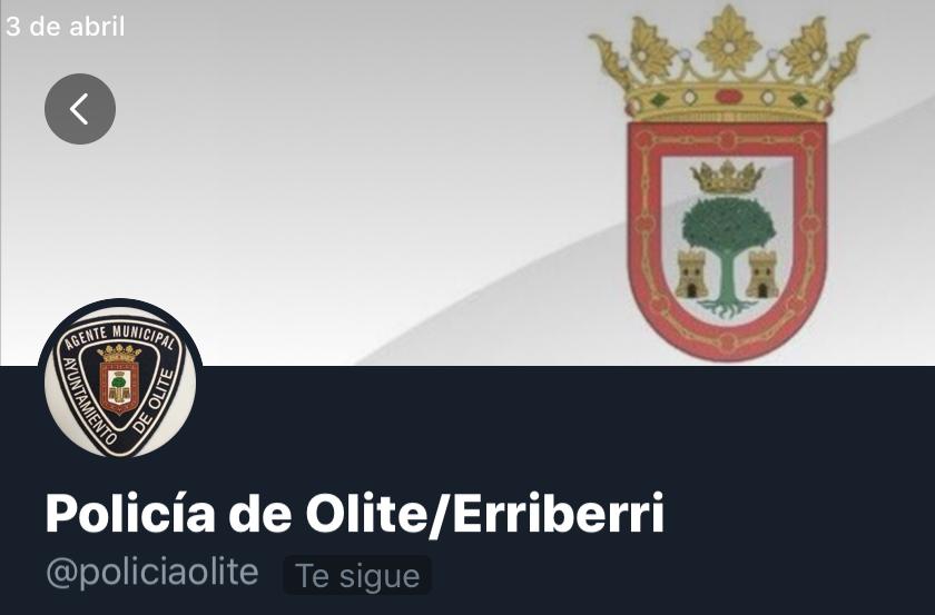Olite.La Policía Municipal de Olite estrena un canal de Twiter. @policiaOlite