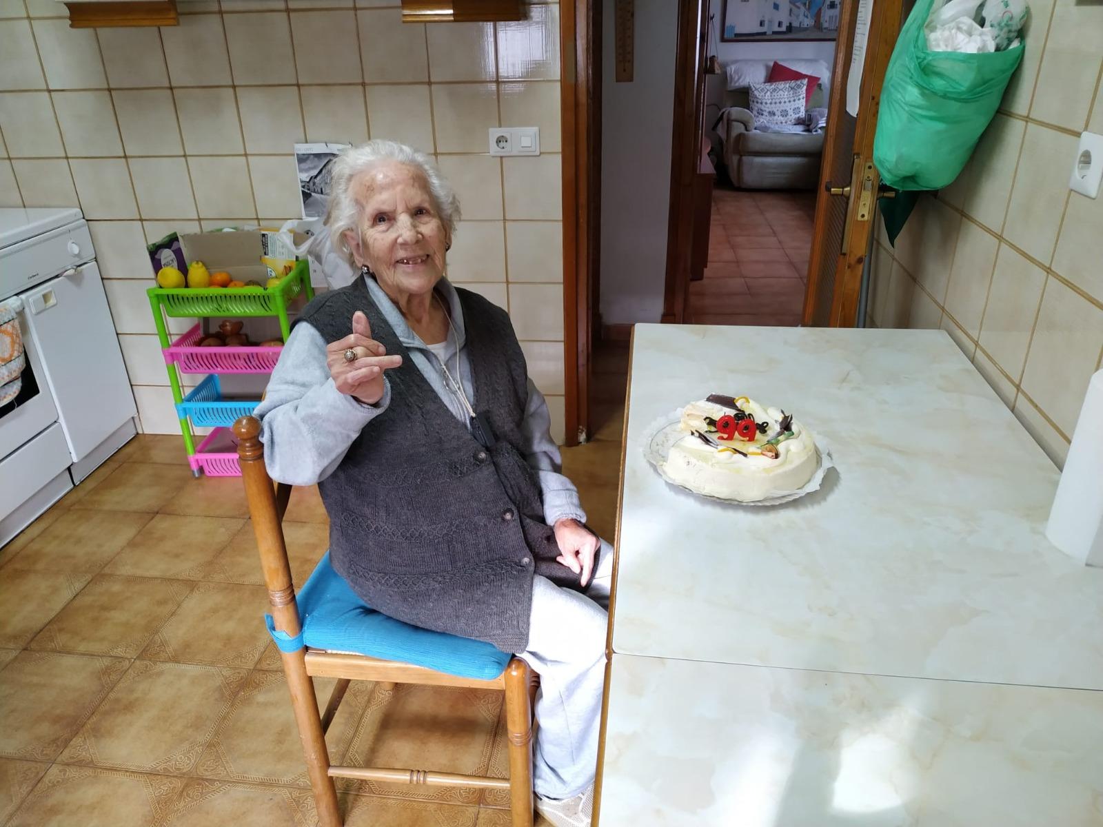 Olite.Maria Carabantes 99 años entre todos nosotros.