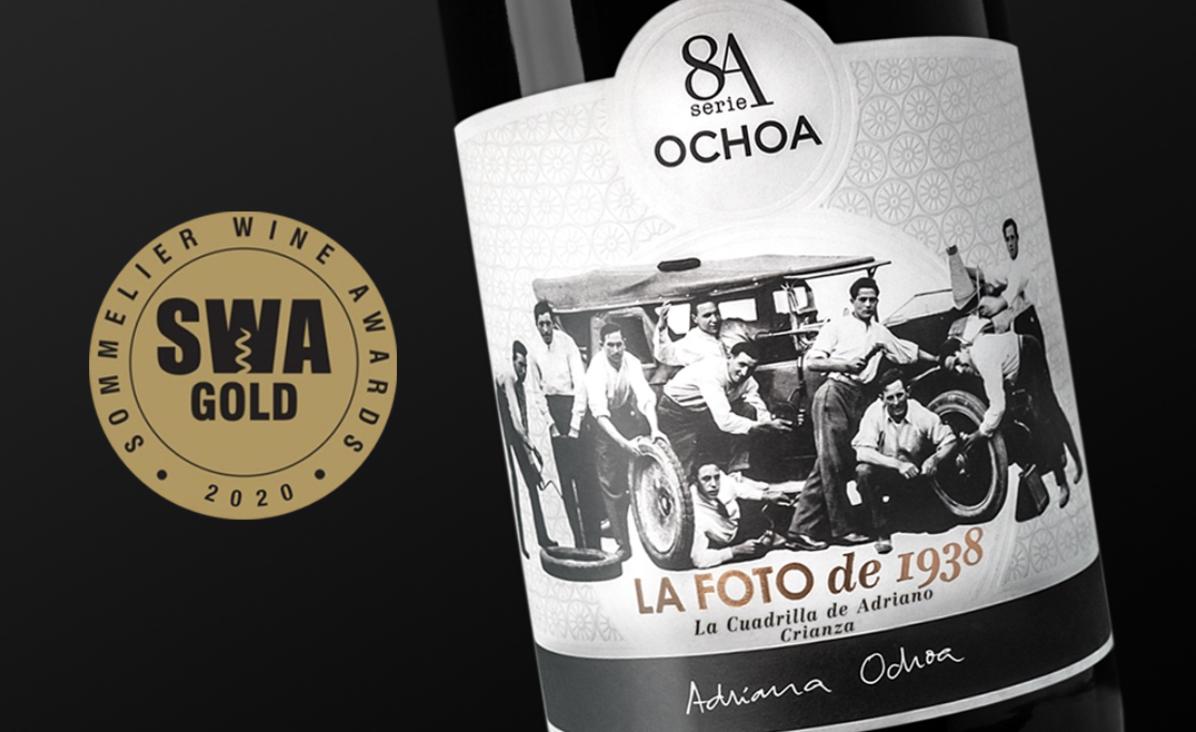 Olite.8A La Foto de 1938 cosecha 2015, medalla de Oro en los Sommelier Wine Awards