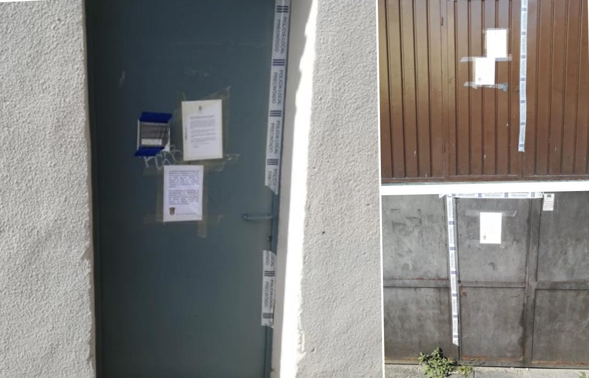 Olite.El Ayuntamiento de Olite a través de la Policia Municipal ha precintado los pipotes