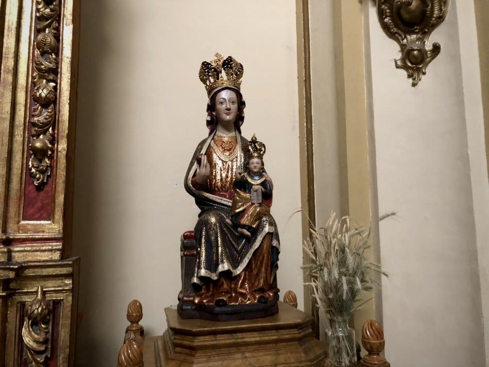 Olite.Olite, estrena imágen de la Virgen de Santa Maria