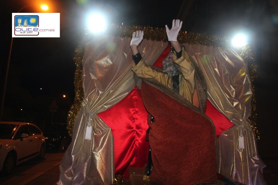 Olite.Sus Majestades los Reyes Magos traen. la ilusión a Olite