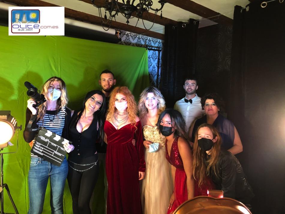 Olite.Mari Cielo Pajares rueda su primer  videoclip en el estudio fotográfico de Silvia Catalan.