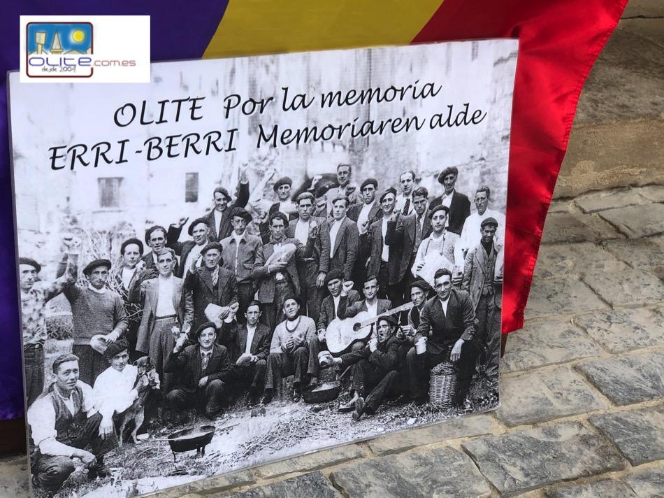Olite.Homenaje a los represaliados en el día de la Memoria Histórica de Olite