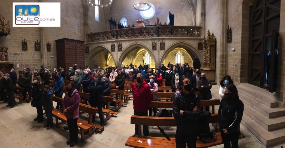 Olite.A pesar del mal tiempo, Olite vuelve a peregrinar a la Virgen de Ujué