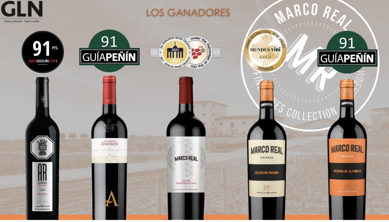 Olite.Los vinos de Marco Real están de enhorabuena.