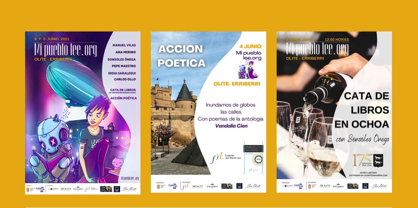 Olite.Mi pueblo lee, festival literario con escritores nacionales
