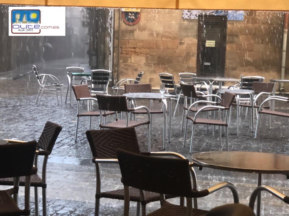 Olite.Ayer sábado día de fuertes tormentas en Olite