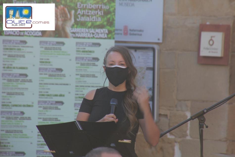 Olite.Maite Itoiz inaugura el Festival de Teatro de Olite