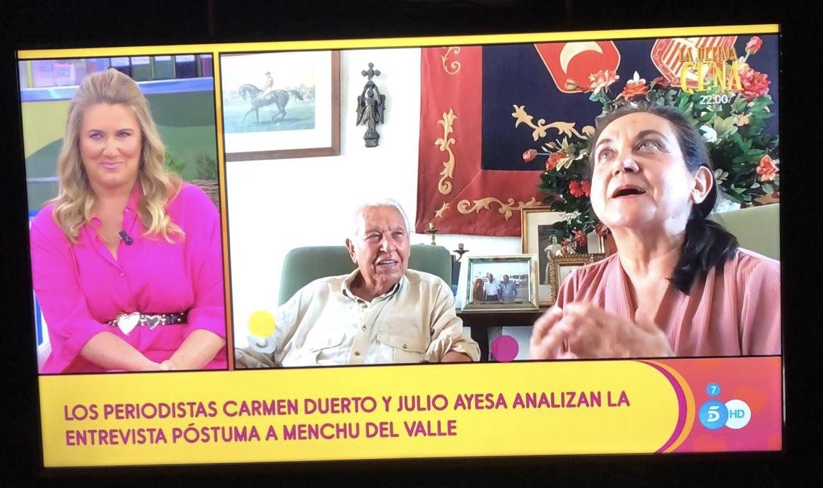 Olite.Julio Ayesa entra en directo en el programa Salvame de Telecinco