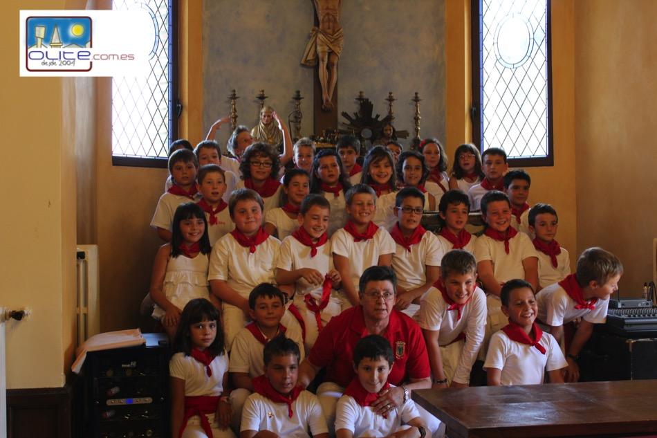 Olite.Cohete del Día del Niño en 2011