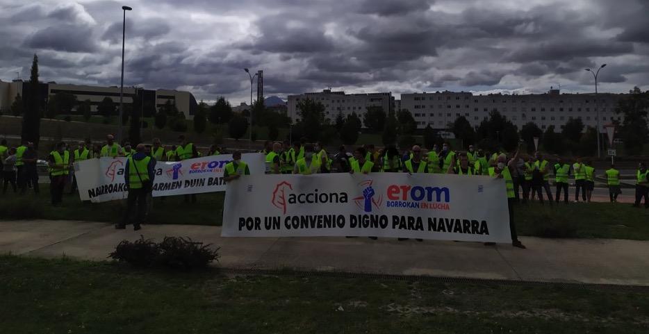 Olite.*Convocan una huelga de diez días en la empresa Erom para reclamar un convenio propio en Navarra.